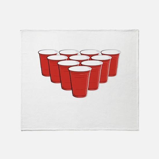 Beer Pong Throw Blanket
