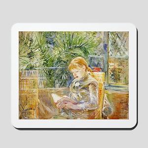 Girl Reading Mousepad