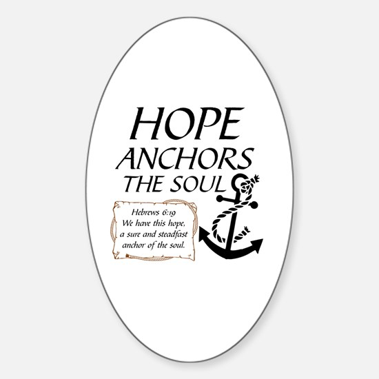 Cute Anchors Sticker (Oval)