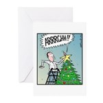 Christmas tree Stars butt surprise Greeting Cards
