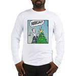 Christmas tree Stars butt surprise Long Sleeve T-S