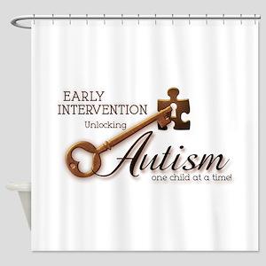 E.I. Unlocks Autism Shower Curtain