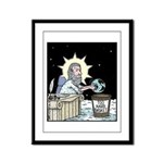 Gods Too Hard Basket Framed Panel Print