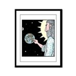 Gods Wash me Earth sign Framed Panel Print