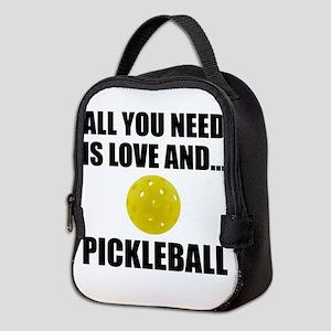 Need Love And Pickleball Neoprene Lunch Bag