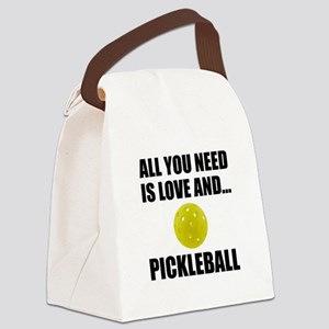 Need Love And Pickleball Canvas Lunch Bag