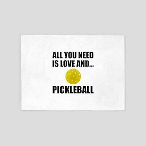 Need Love And Pickleball 5'x7'Area Rug
