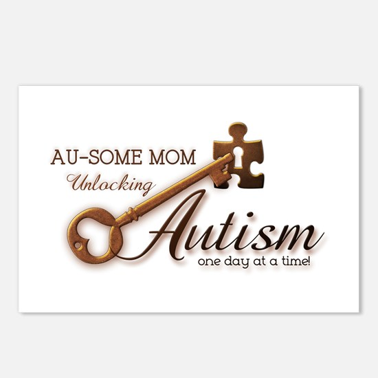 Au-some Mom Unlocking Autism Postcards (Package of