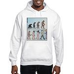 Mans Evolution to the Pub Hooded Sweatshirt