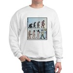Mans Evolution to the Pub Sweatshirt