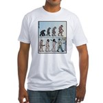 Mans Evolution to the Pub Fitted T-Shirt