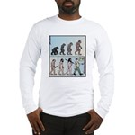 Mans Evolution to the Pub Long Sleeve T-Shirt