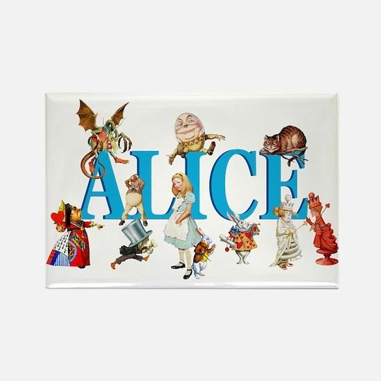 Alice & Friends in Wonderland Rectangle Magnet