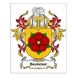 Beukelaer Coat of Arms Small Poster