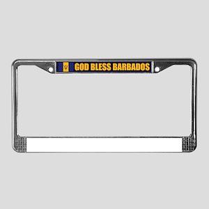 God Bless Barbados License Plate Frame