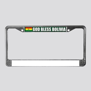 God Bless Bolivia License Plate Frame