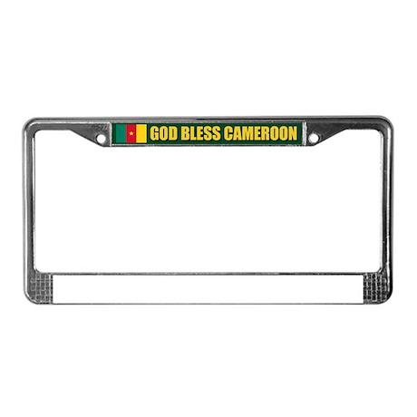 God Bless Cameroon License Plate Frame