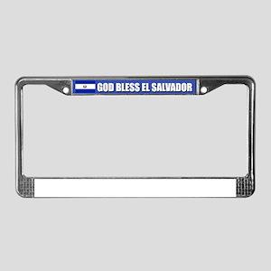 God Bless El Salvador License Plate Frame