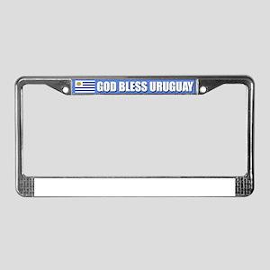 God Bless Uruguay License Plate Frame