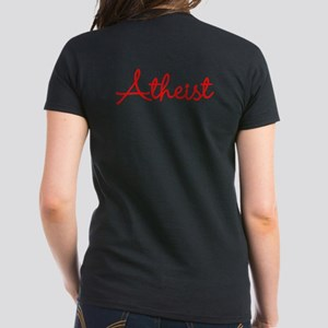 Eiffle Tower Atheist Women's Dark T-Shirt