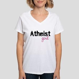 Atheist Girl Women's V-Neck T-Shirt
