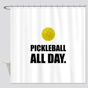 Pickleball All Day Shower Curtain