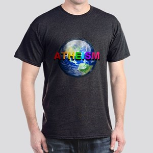 Rainbow Atheist Worldview Dark T-Shirt