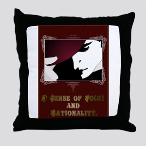 Sense of Poise & Rationality Throw Pillow