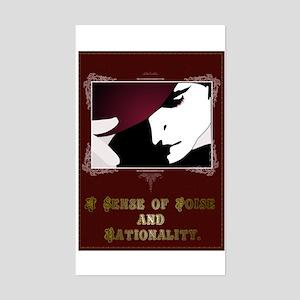 Sense of Poise & Rationality Rectangle Sticker