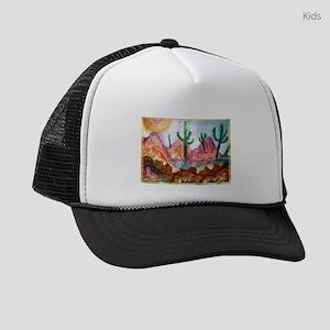 Desert! Southwest art! Kids Trucker hat