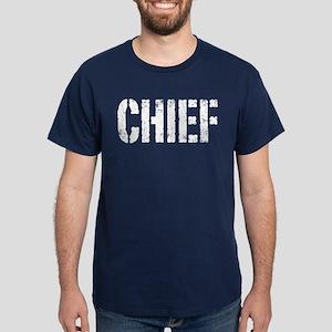 Chief white distressed print Dark T-Shirt