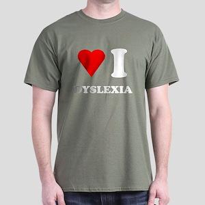 Love I Dyslexia Dark T-Shirt