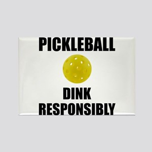 Pickleball Dink Responsibly Magnets