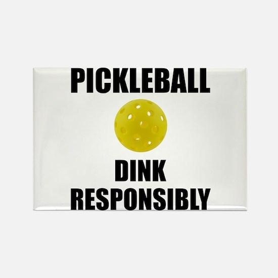 Pickleball Dink Responsibly Magnets