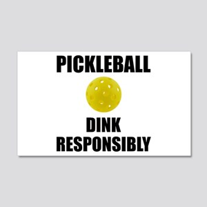 Pickleball Dink Responsibly Wall Decal