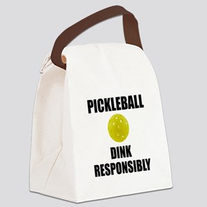 Pickleball Dink Responsibly Canvas Lunch Bag
