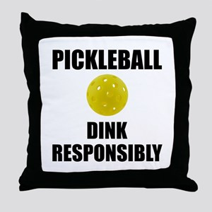Pickleball Dink Responsibly Throw Pillow