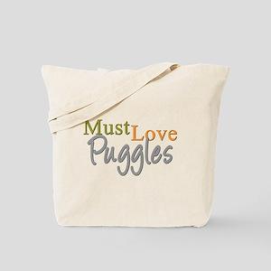 MUST LOVE Puggles Tote Bag