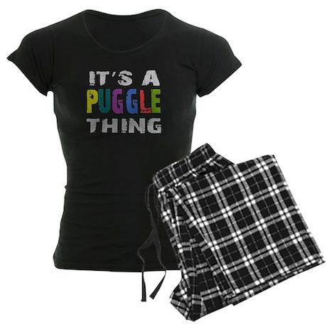 Puggle THING Women's Dark Pajamas