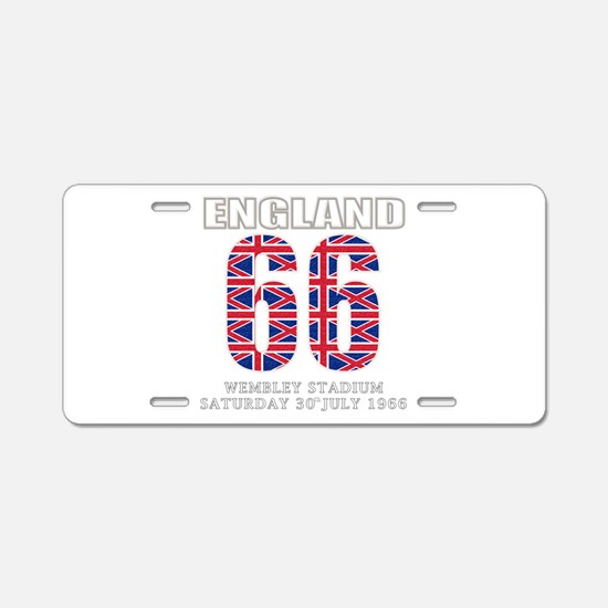 England 1966 Wembley Winners Aluminum License Plat