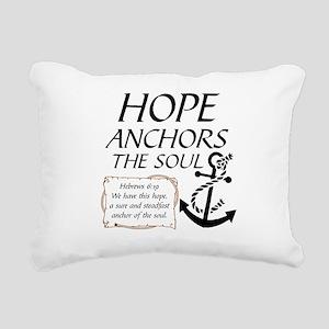 HOPE ANCHORS THE SOUL Rectangular Canvas Pillow