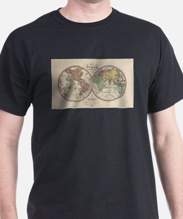 Vintage Map of The World (1842) T-Shirt