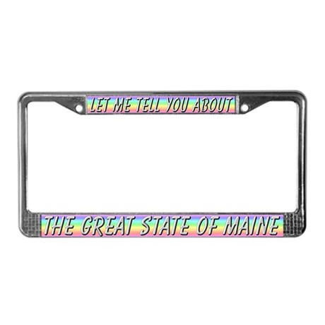 """Maine"" License Plate Frame"