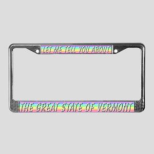 """Vermont"" License Plate Frame"