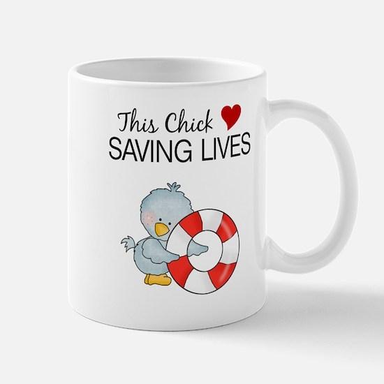 This Chick Loves Saving Lives Mug