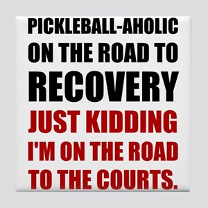 Pickleball Road To Recovery Tile Coaster