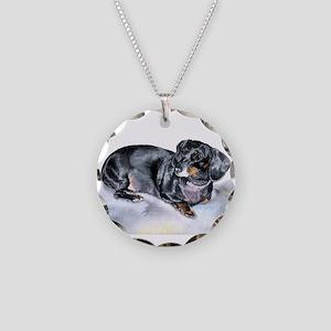 Annie the Dachshund Necklace Circle Charm