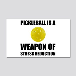 Weapon Of Stress Reduction Pickleball Wall Decal