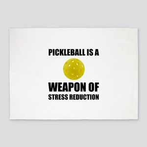 Weapon Of Stress Reduction Pickleball 5'x7'Area Ru
