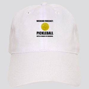 Weekend Forecast Pickleball Drinking Baseball Cap
